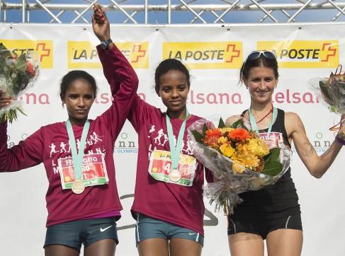 Les gagnantes du marathon de Lausanne 2015